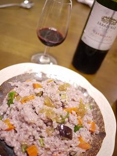 赤ワイン風味の野菜リゾット画像