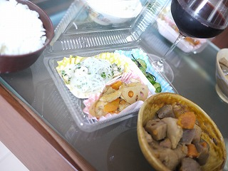 M、Tさんからの差し入れ 和食