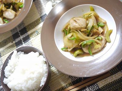 鶏と野菜の炒め物 カボス風味