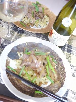 鶏肉と野菜の和風炒め