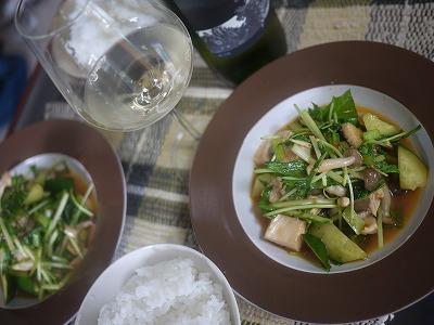 鶏の中華風サラダ