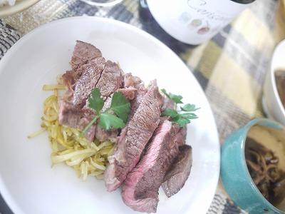 牛肉のステーキ シャガイモのガレットと和風ソース