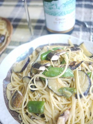 秋刀魚と味噌のパスタ