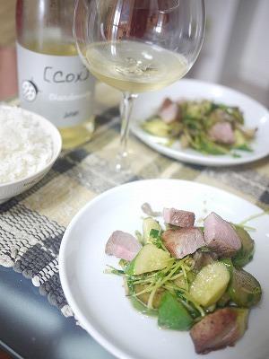 豚と夏野菜のサラダ