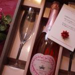 桜色のロゼワインと結婚のお祝いメッセージ🌸
