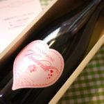 【ご結婚お祝い】ピンク色のハートラベルに祝福を込めて