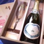 ご結婚お祝いにシャンパンとグラスセットで贈りませんか??