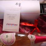 【ご結婚お祝い】ハートラベルのシャンパンでオシャレに!