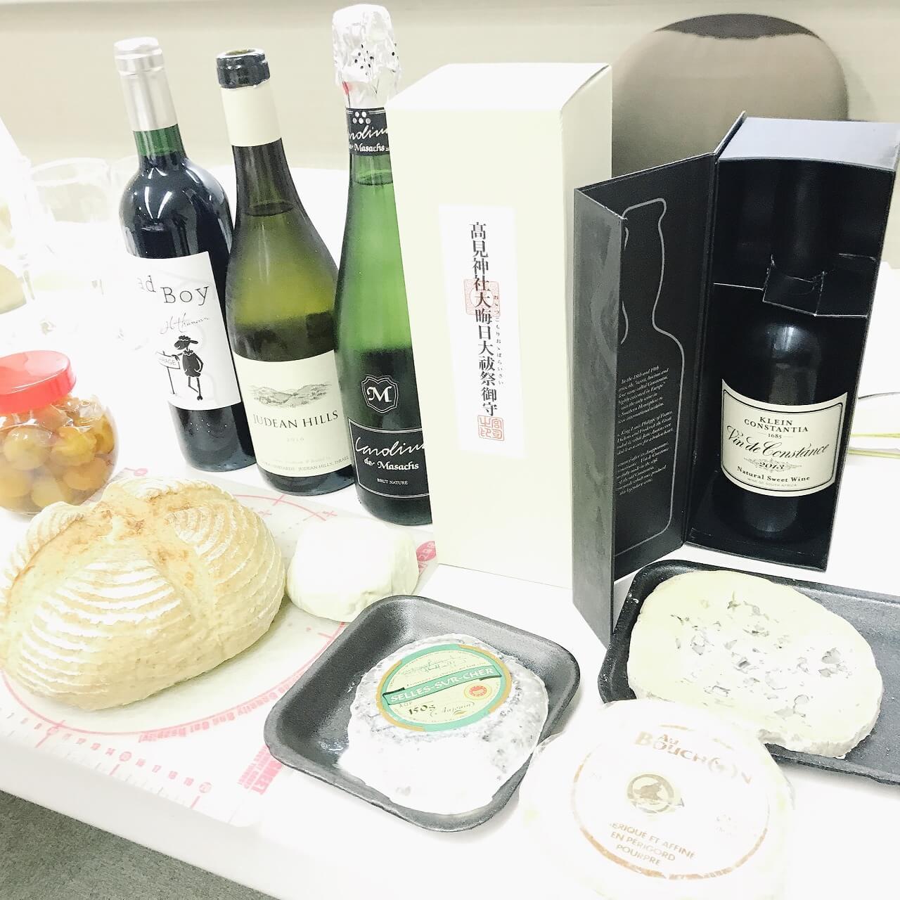 ワインとチーズがテーマの講習