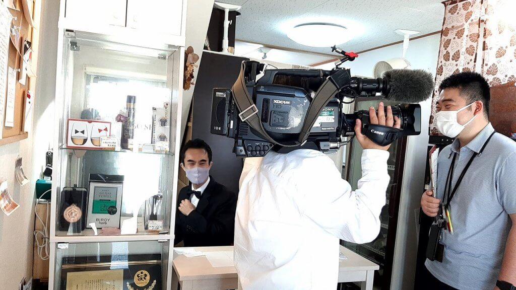 NHKの取材時。Happyの連鎖を広げたい^^