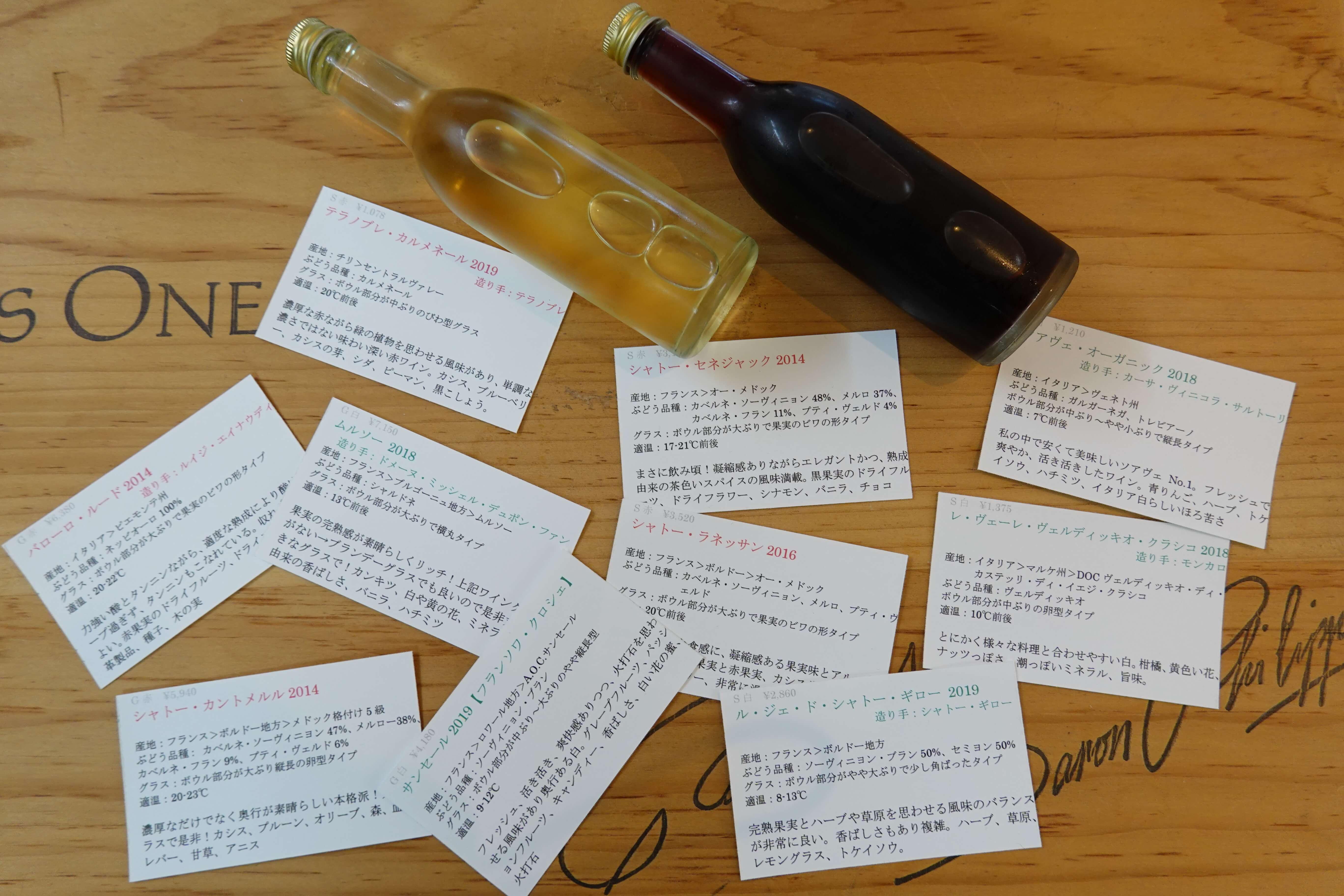 ワインの名刺