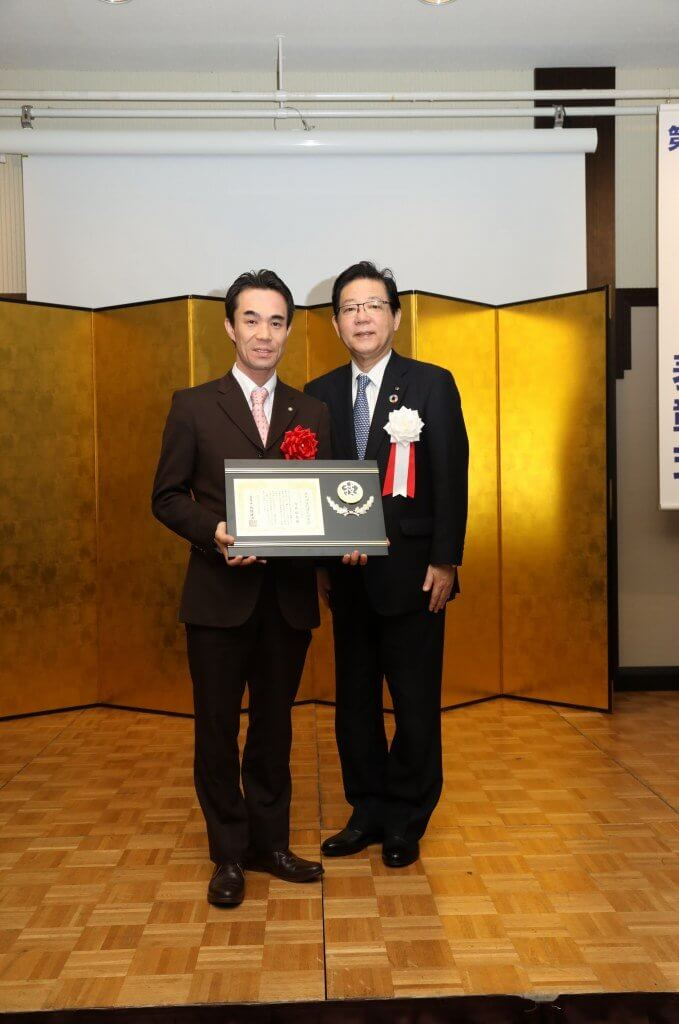 北九州技の達人の式典にて北橋市長と